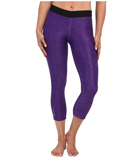 Nike - Printed Relay Capri (Hyper Grape/Matte Silver) Women's Capri