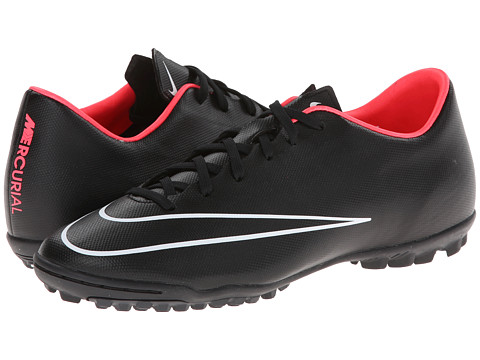 Nike - Mercurial Victory V TF (Black/Hyper Punch/Volt/Black) Men's Soccer Shoes