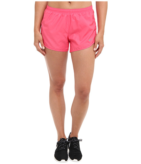 Nike - Mod Tempo Emboss Run Short (Dynamic Pink/Dynamic Pink/Reflective Silver) Women's Shorts