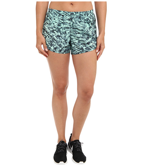Nike - Printed Modern Tempo Short (Medium Mint/Black/Reflective Silver) Women's Shorts