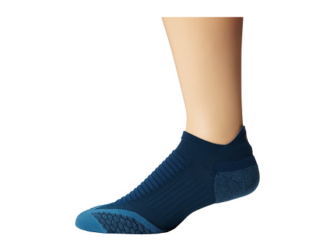 Nike - Elite Running Cushion No Show Tab (Space Blue/Volt/Rift Blue) No Show Socks Shoes