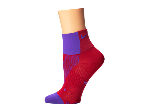 Nike - Hyper-Lite Convertible Quarter (Hyper Grape/Fuchsia Force/Hyper Grape) Quarter Length Socks Shoes