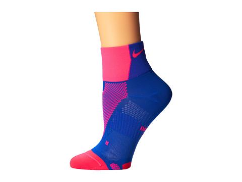 Nike - Hyper-Lite Convertible Quarter (Hyper Pink/Hyper Cobalt/Hyper Pink) Quarter Length Socks Shoes