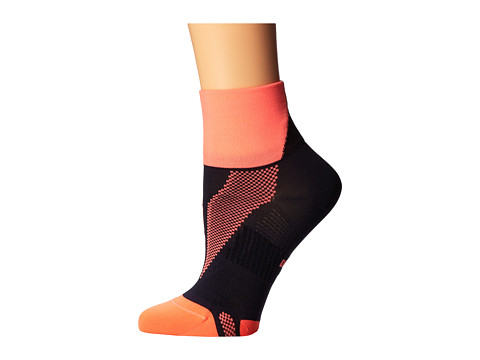 Nike - Hyper-Lite Convertible Quarter (Bright Mango/Dark Ash/Bright Mango) Quarter Length Socks Shoes