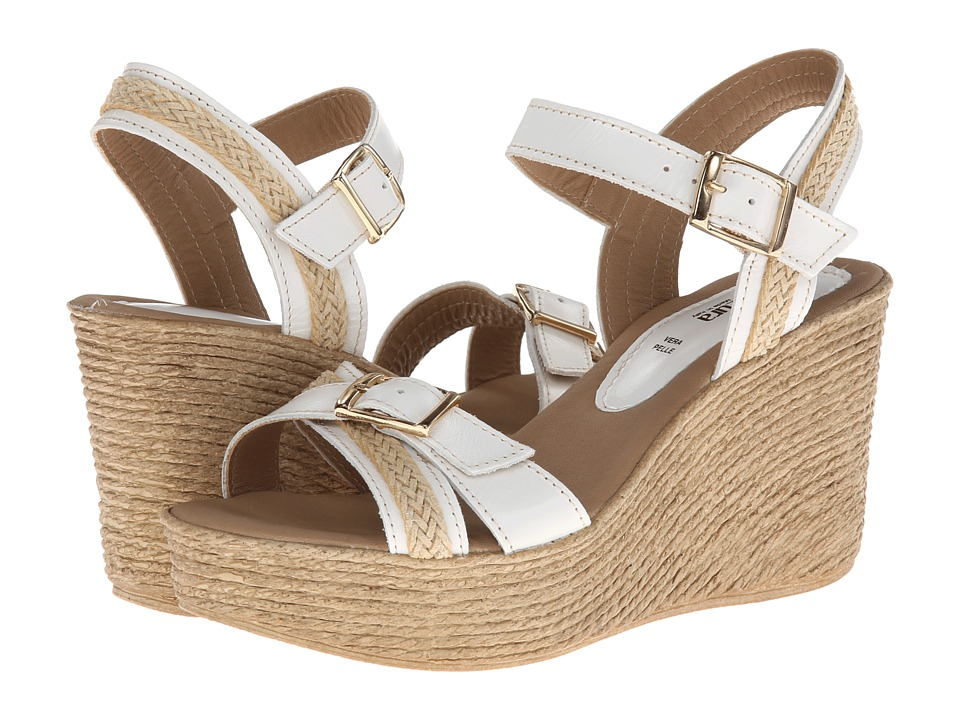 Spring Step - Frappe (White Leather) Women's Dress Sandals