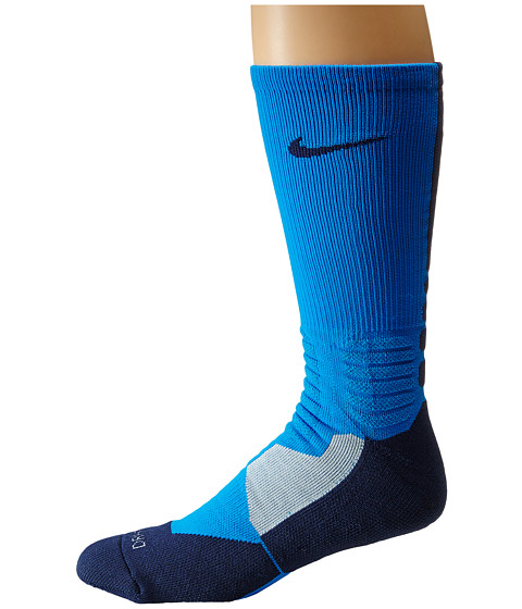 Nike - Hyperelite Basketball Crew (Photo Blue/Midnight Navy/Midnight Navy) Men's Crew Cut Socks Shoes