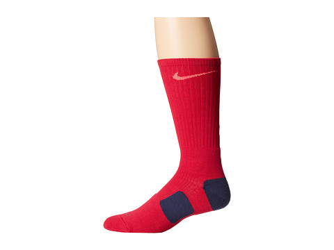 Nike - Nike Elite Basketball Crew 1-Pair Pack (Fuchsia Force/Hyper Punch/Hyper Punch) Crew Cut Socks Shoes