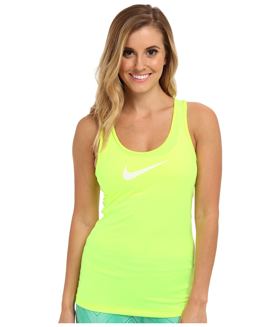 Nike - Pro Tank (Volt/Ivory) Women's Sleeveless