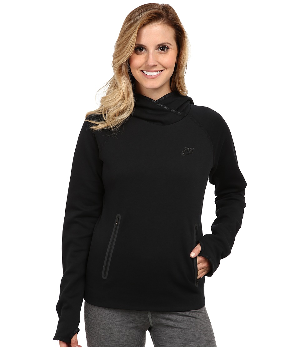 Nike - Tech Fleece Funnel (Black/Black/Black) Women's Sweatshirt