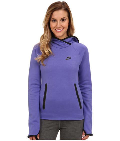 Nike - Tech Fleece Funnel (Purple Haze/Purple Haze/Black) Women's Sweatshirt