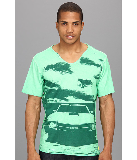 Fresh Brand - All Over Sprayed FS14611 (Fluo Green) Men's Clothing