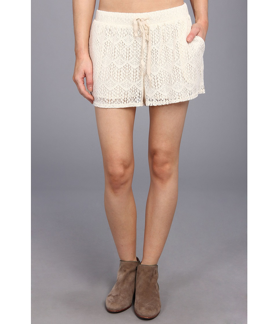 C&C California - Crochet Lace Short (White Swan) Women's Shorts