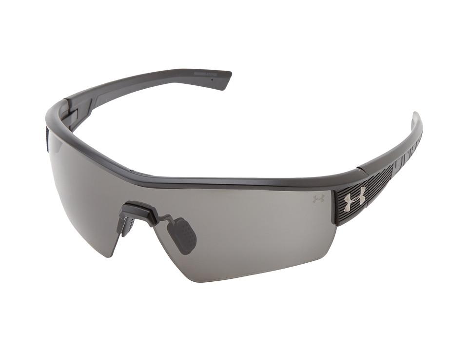 Under Armour - UA Fire (Satin Black Frame w/ Charcoal Gray Rubber/Gray Lens) Sport Sunglasses