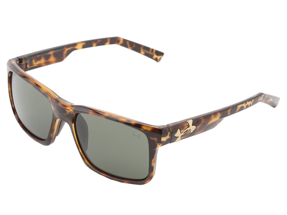 Under Armour - UA Align (Shiny Crystal Tortoise Frame w/ Brown Rubber/Gameday w/ Multifle) Sport Sunglasses