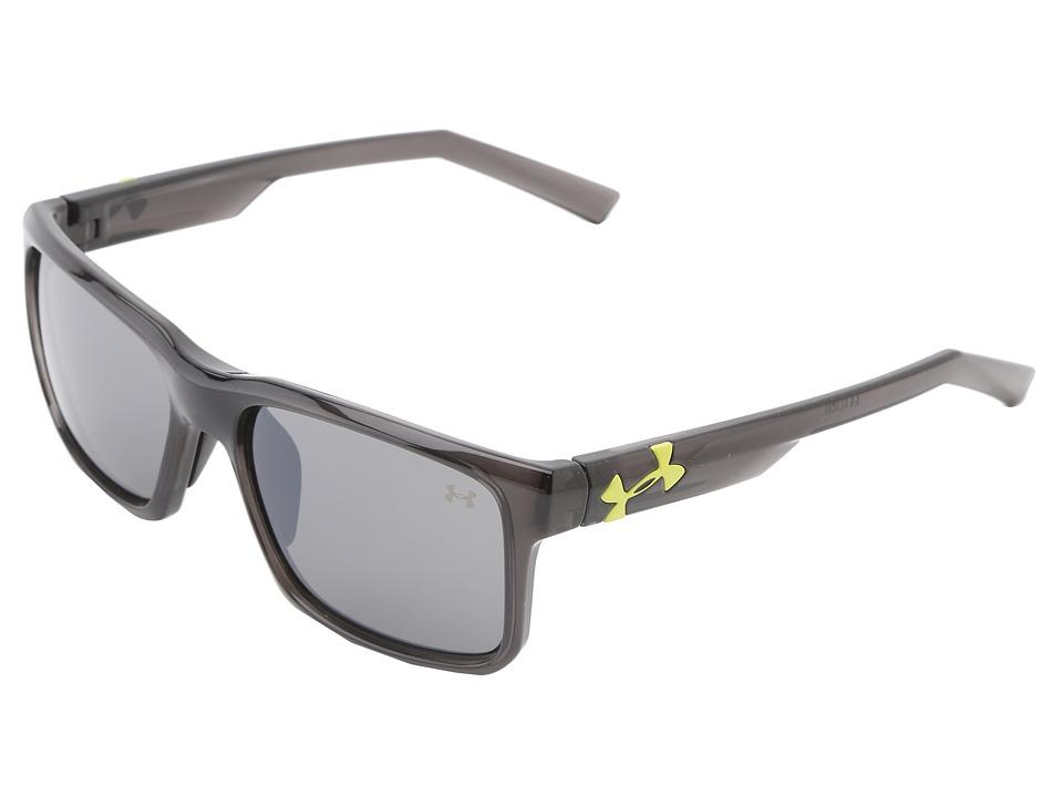 Under Armour - UA Align (Shiny Crystal Black Frame w/ Black Rubber/Gray w/ Multiflection) Sport Sunglasses