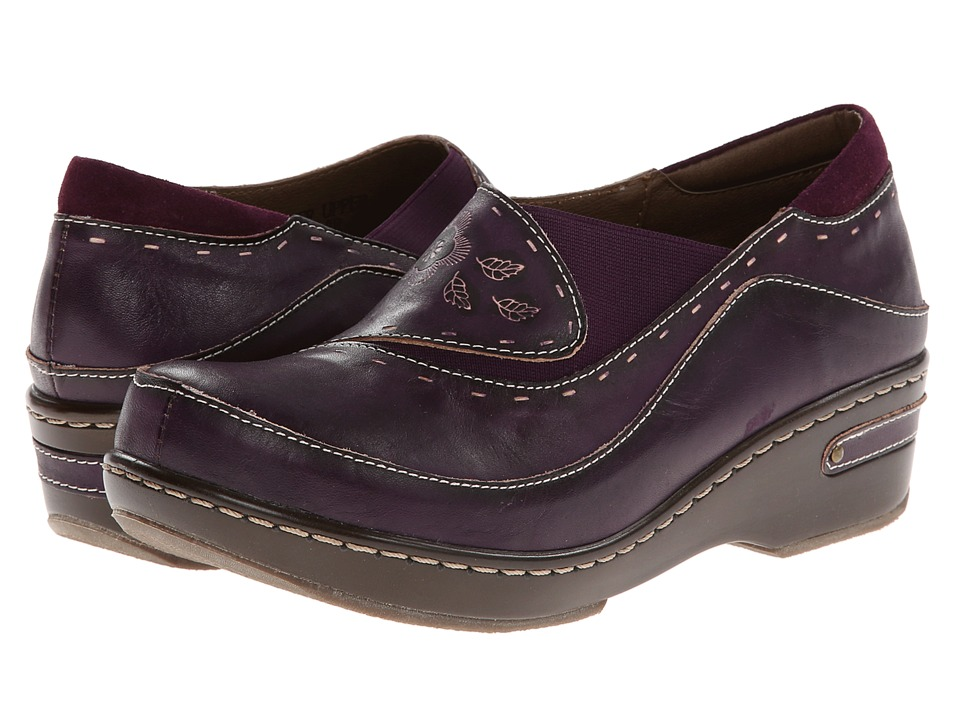 Spring Step - Burbank (Purple) Women's Clog Shoes