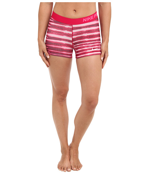 Nike - Pro 3 Tiger Short (Fuchsia Force/Hyper Pink/White) Women