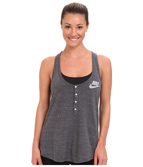 Nike - Nike Gym Vintage Tank (Dark Grey/Sail) Women's Sleeveless