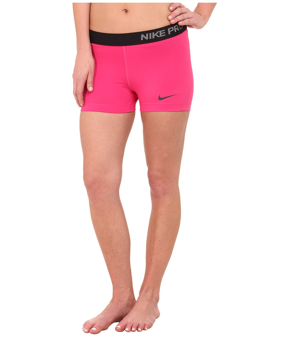Nike - Pro Three-Inch Short (Vivid Pink/Anthracite) Women's Shorts