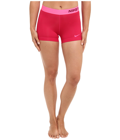 Nike - Pro Three-Inch Short (Fuchsia Force/Deep Garnet/Hyper Pink) Women's Shorts