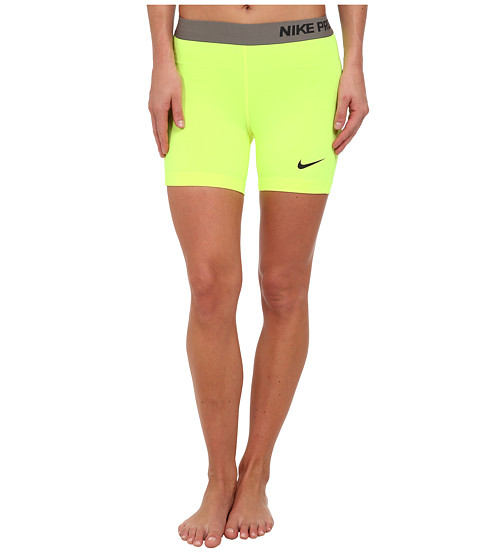 Nike - Pro Five-Inch Short (Volt/Dark Ash) Women's Shorts
