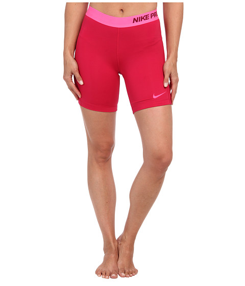 Nike - Pro Seven-Inch Short (Fuchsia Force/Deep Garnet/Hyper Pink) Women