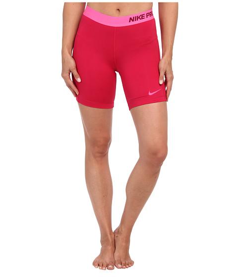 Nike - Pro Seven-Inch Short (Fuchsia Force/Deep Garnet/Hyper Pink) Women's Shorts