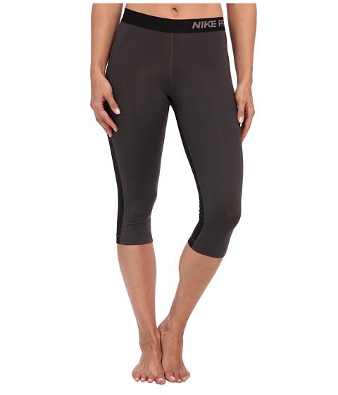 Nike - Pro Capri (Medium Ash/Black/Light Ash) Women's Capri
