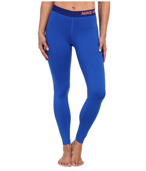 Nike - Pro Tight (Hyper Cobalt/Bright Mango) Women