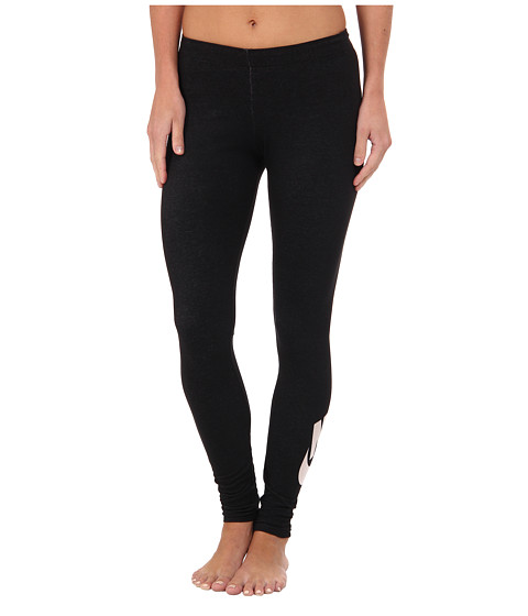 Nike - Leg-A-See Logo (Black/White) Women's Casual Pants