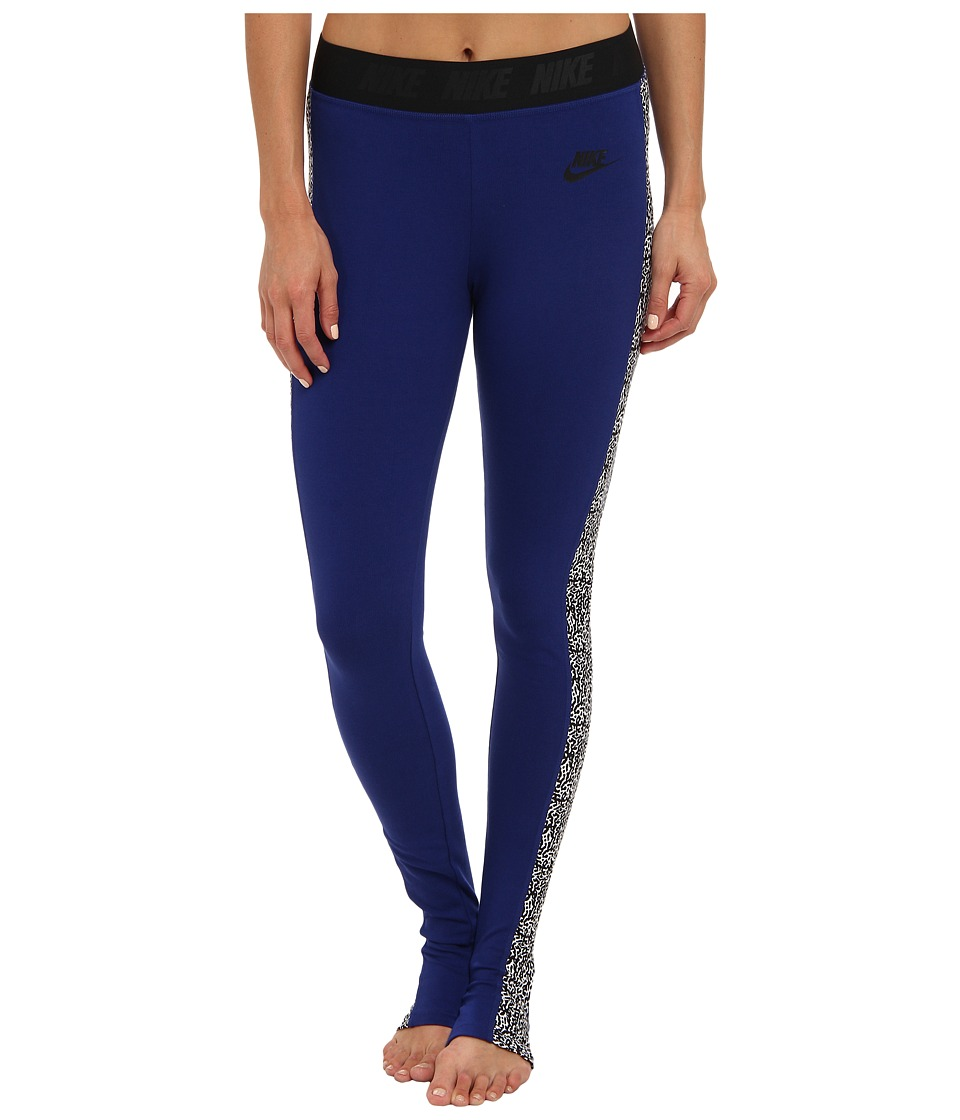Nike - Nike Leg-A-See - Stirrup (Deep Royal Blue/Black) Women's Casual Pants