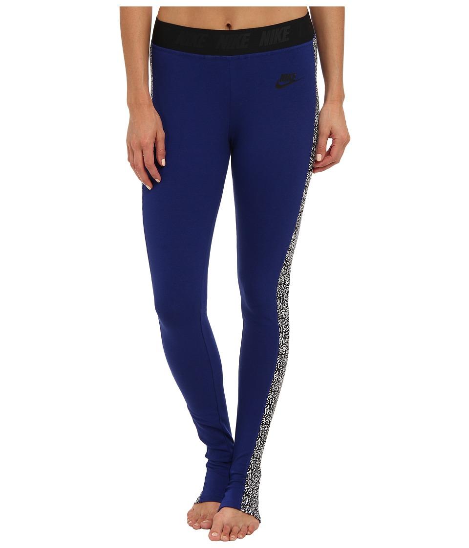 Nike - Nike Leg-A-See - Stirrup (Deep Royal Blue/Black) Women's Casual Pants