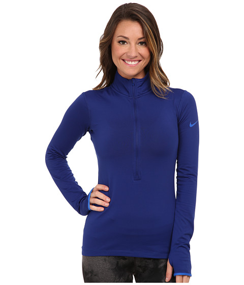 Nike - Pro Hyperwarm 1/2 Zip 3.0 (Deep Royal Blue/Hyper Cobalt/Hyper Cobalt) Women's Workout