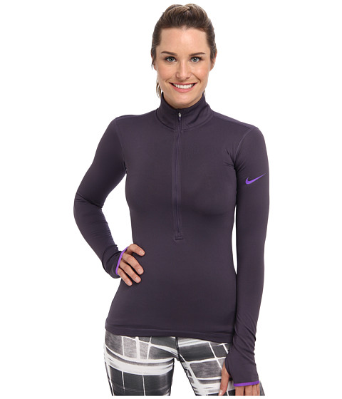Nike - Pro Hyperwarm 1/2 Zip 3.0 (Dark Raisin/Hyper Grape/Hyper Grape) Women's Workout