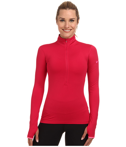 Nike - Pro Hyperwarm 1/2 Zip 3.0 (Fuchsia Force/Hyper Pink/Hyper Pink) Women