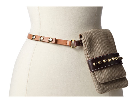 MICHAEL Michael Kors 13MM Canvas Belt Bag (Luggage) Women's Belts