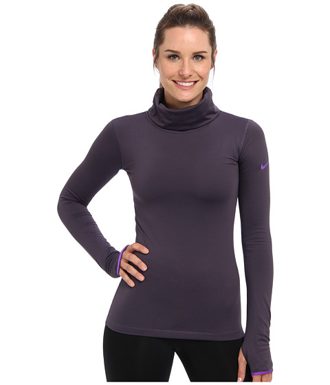 Nike - Pro Hyperwarm Infinity (Dark Raisin/Hyper Grape/Hyper Grape) Women's Long Sleeve Pullover