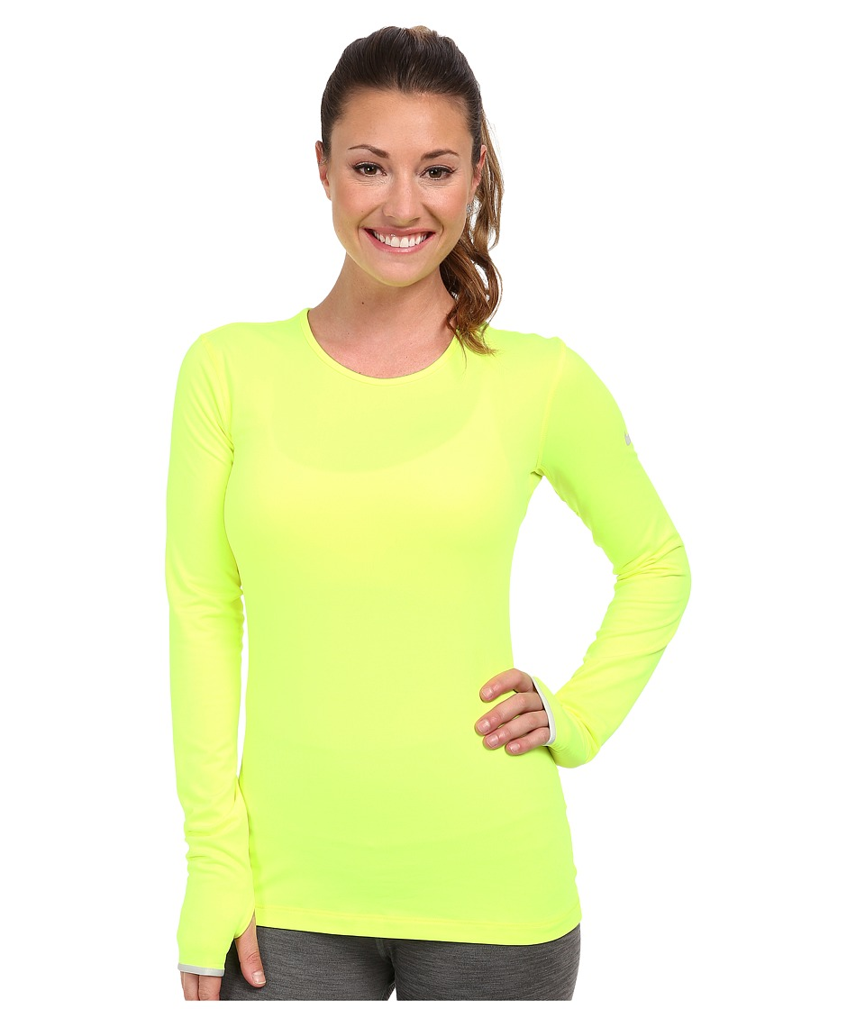 Nike - Pro Hyperwarm Crew 3.0 (Volt/Light Ash Grey/Light Ash Grey) Women's Long Sleeve Pullover