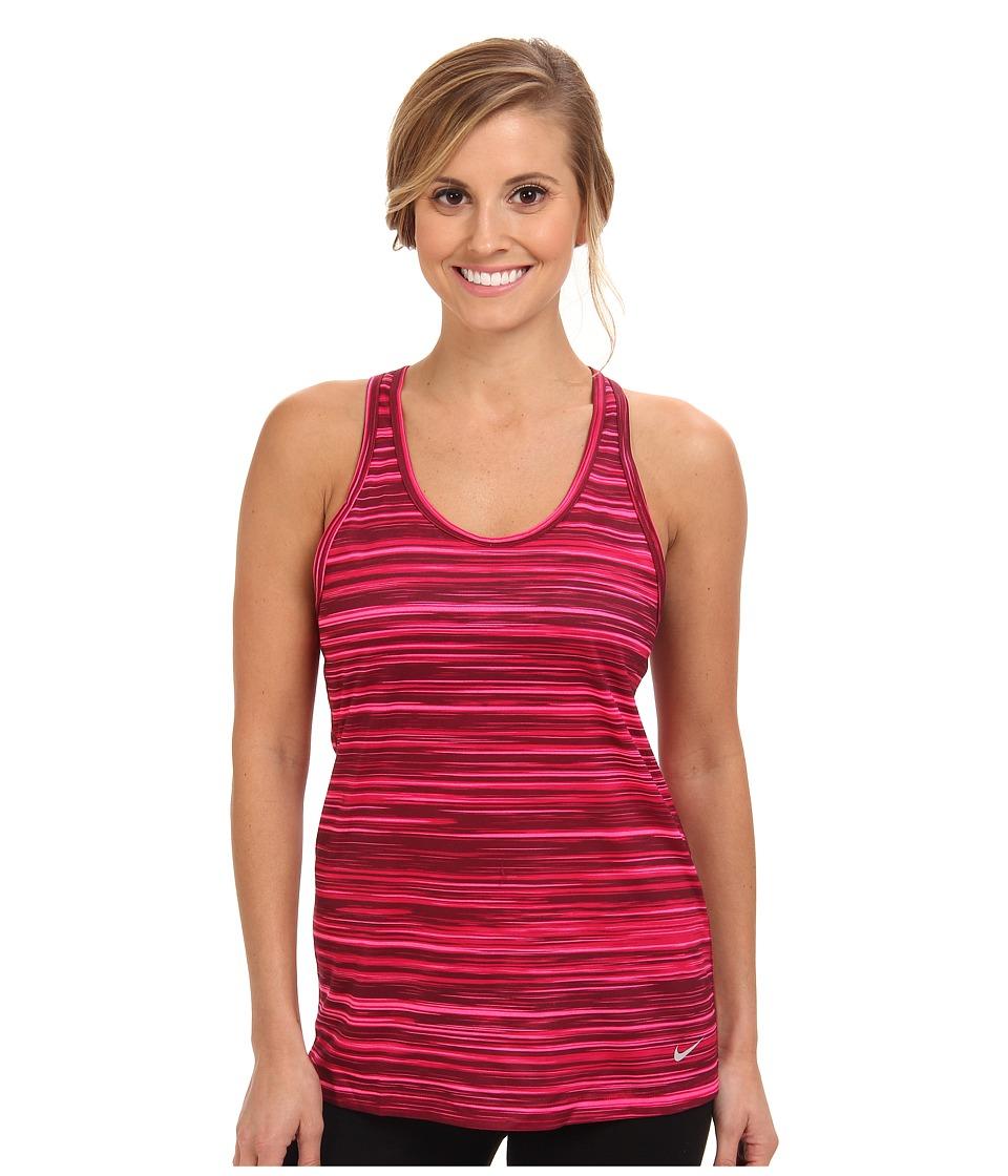Nike - AOP Legend Tank (Hyper Pink/Fuchsia Force/Deep Garnet/Matte Silver) Women's Sleeveless