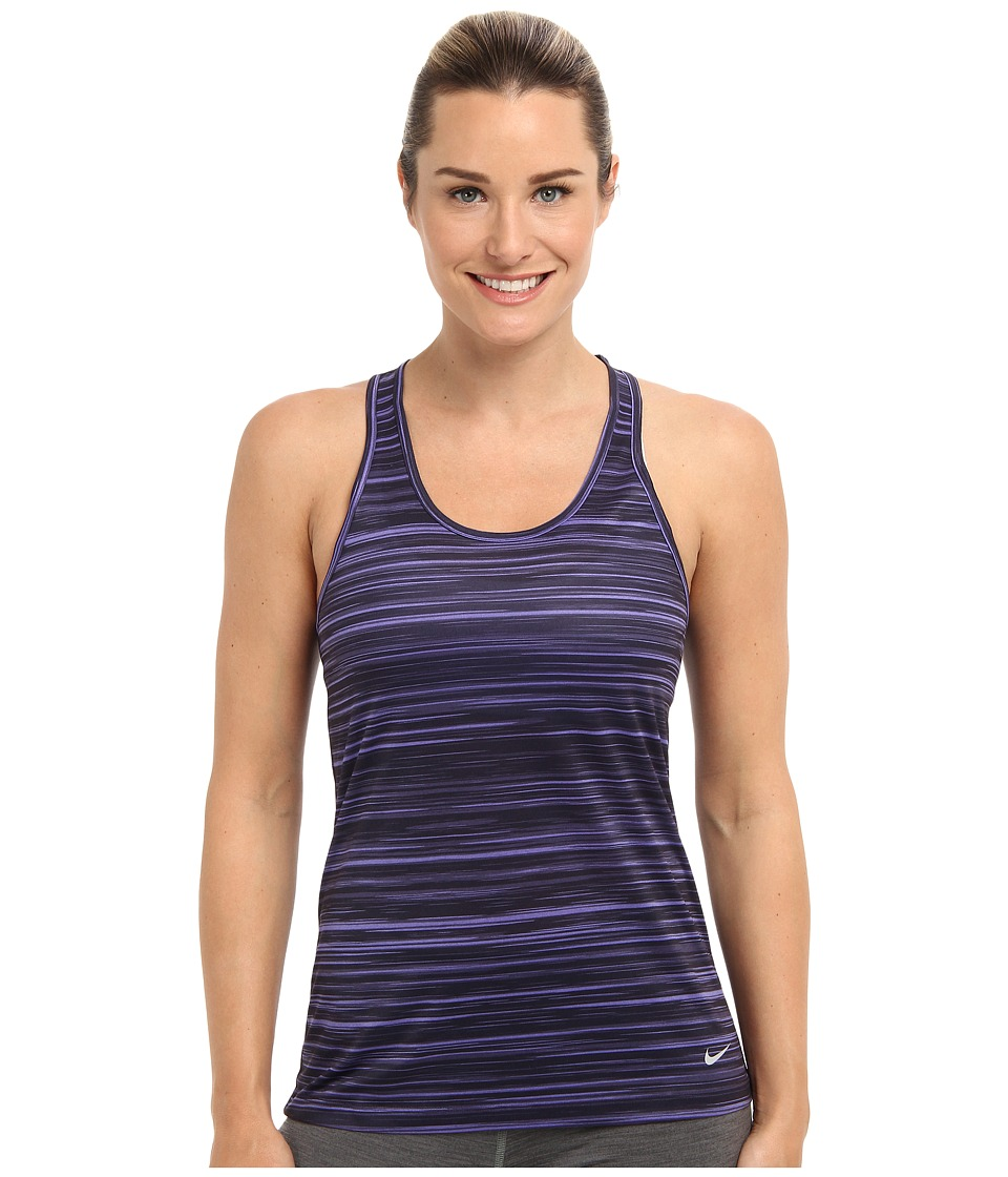 Nike - AOP Legend Tank (Purple Haze/Dark Raisin/Cave Purple/Matte Silver) Women's Sleeveless