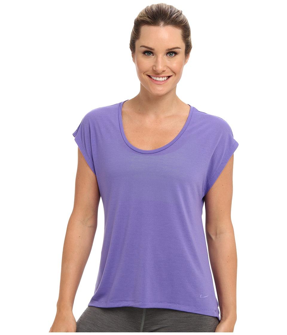 Nike - Club Boxy Tee (Purple Haze/Purple Haze) Women's Short Sleeve Pullover