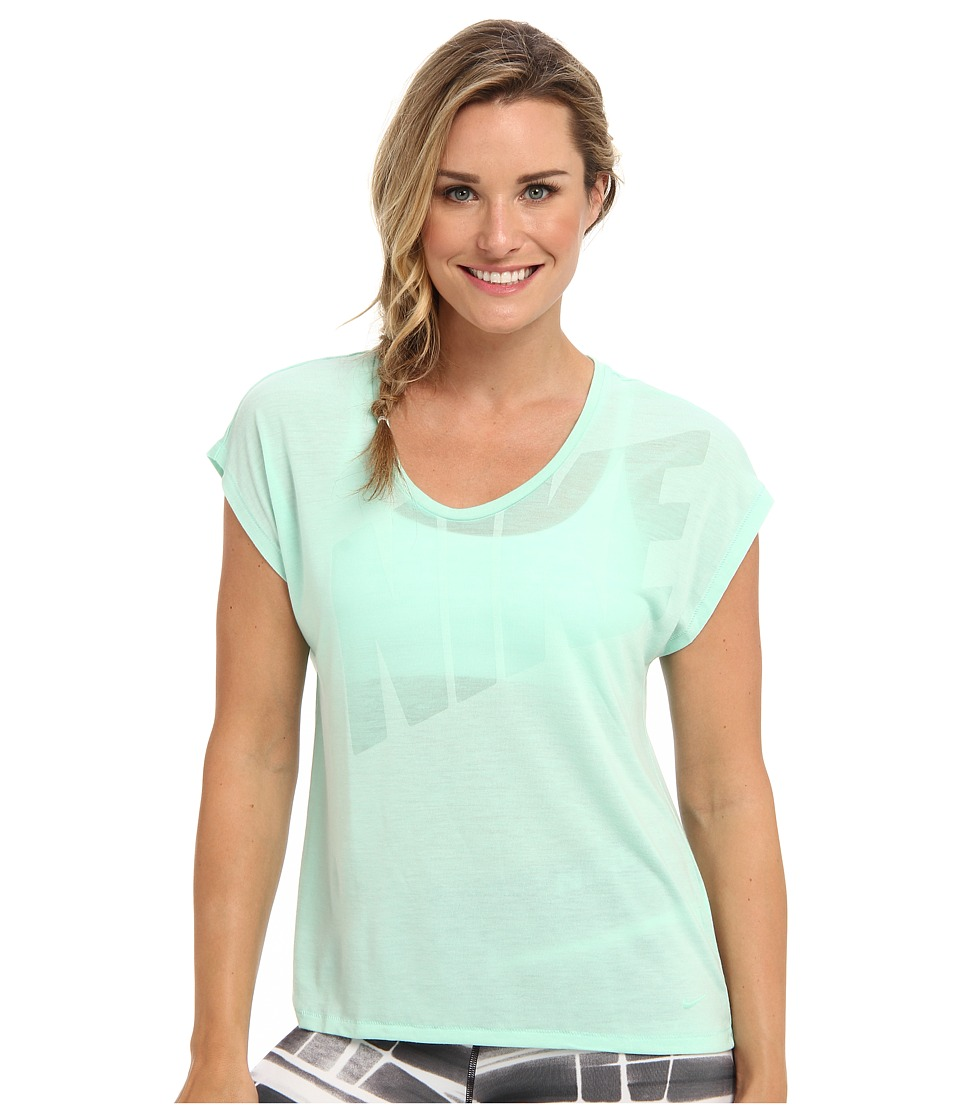 Nike - Nike Club Boxy Tee Logo (Medium Mint/Medium Mint) Women's T Shirt