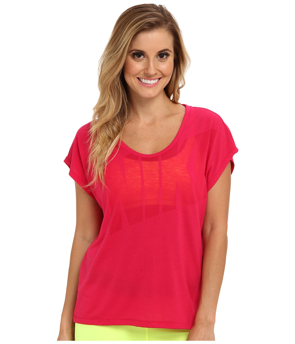 Nike - Nike Club Boxy Tee Logo (Fuchsia Force/Fuchsia Force) Women's T Shirt