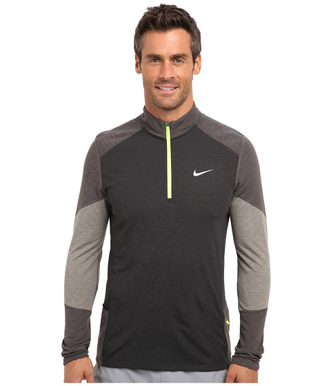 Nike - Trail Kiger Half-Zip (Dark Ash/Medium Ash/Light Ash/Reflective Silver) Men