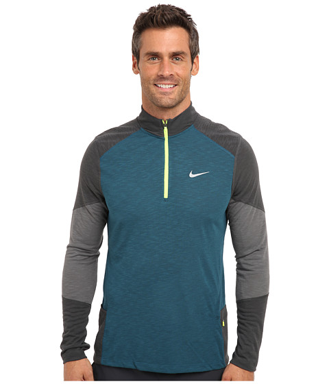 Nike - Trail Kiger Half-Zip (Space Blue/Anthracite/Dark Grey/Reflective Silver) Men