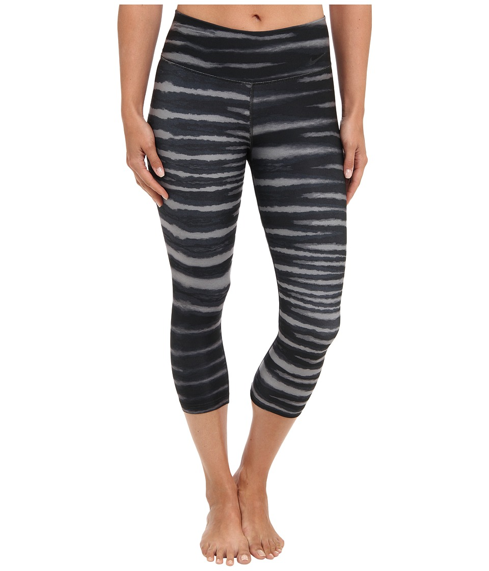 Nike - Legend 2.0 Tight Tiger Capri (Dark Ash/Black/Black) Women