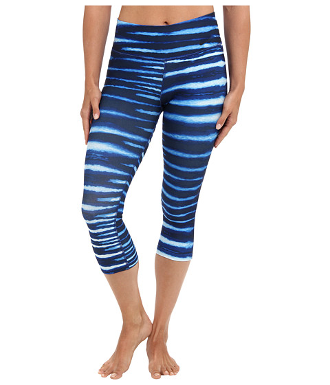 Nike - Legend 2.0 Tight Tiger Capri (Deep Royal Blue/Obsidian/Black) Women