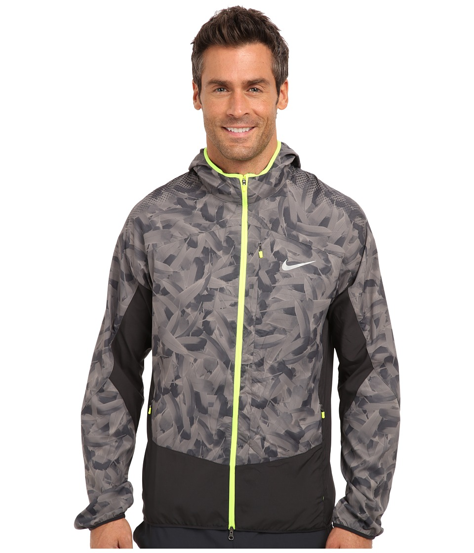 Nike - Printed Trail Kiger Jacket (Light Ash/Dark Ash/Volt/Reflective Silver) Men's Coat