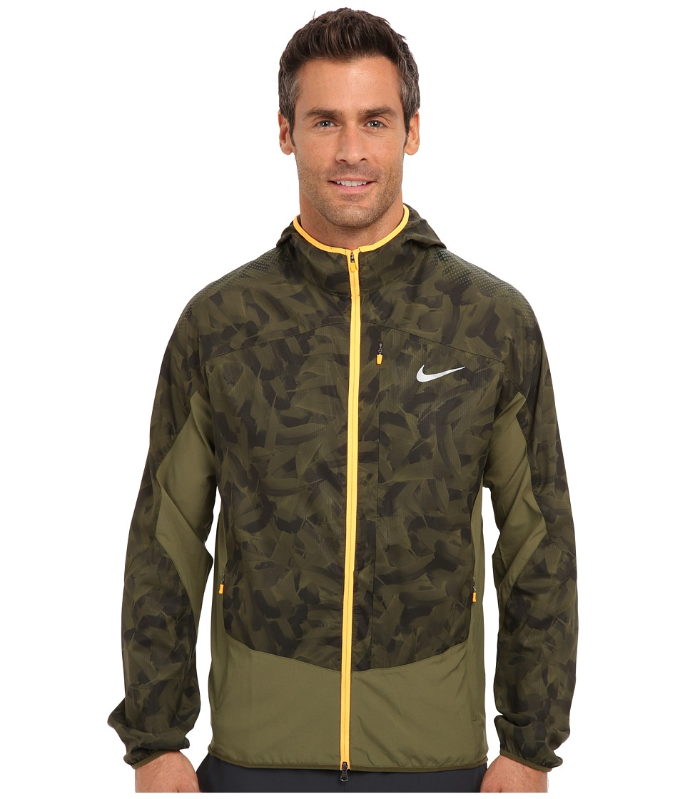 Nike - Printed Trail Kiger Jacket (Rough Green/Rough Green/Atomic Orange/Reflective Silver) Men's Coat