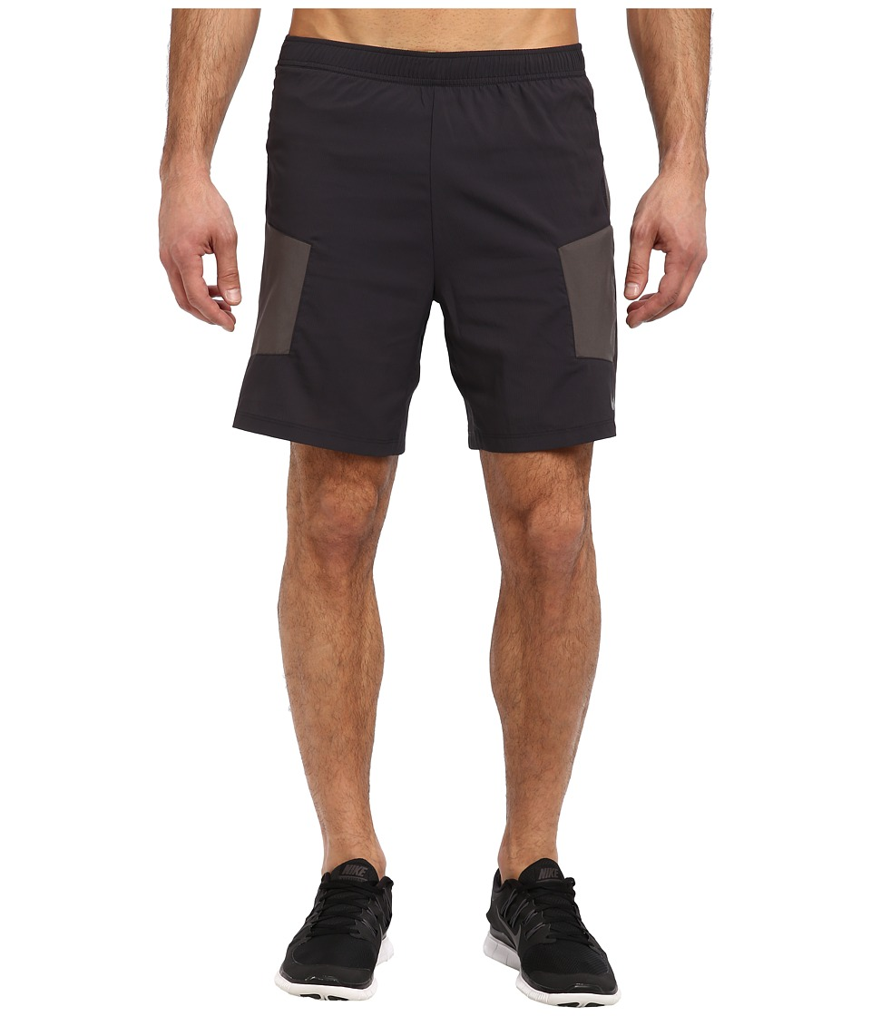Nike - 7 Trail Kiger Short (Dark Ash/Medium Ash/Fierce Green/Reflective Silver) Men's Shorts